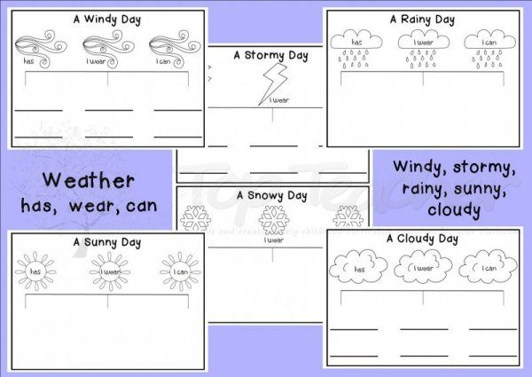 types of preschool curriculum here are templates for 6 different types of weather 670