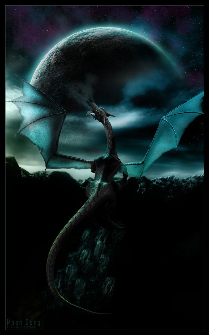 Moon Song by zilla774 | Dragon  •◦°★