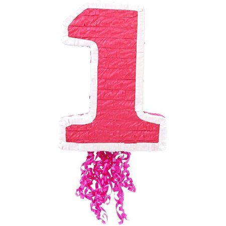"""Free 2-day shipping on qualified orders over $35. Buy Pink #1 19"""" Pull-String Pinata at Walmart.com"""