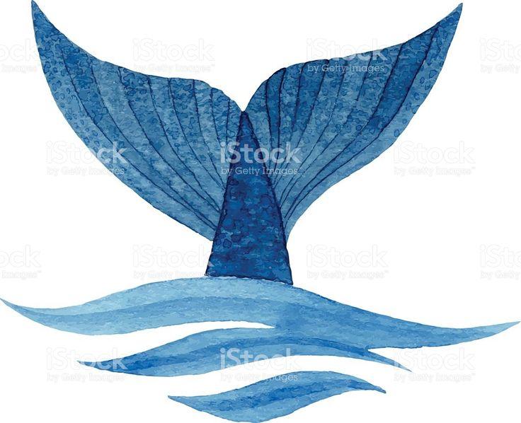 Cauda de baleia vetor e ilustração royalty-free royalty-free