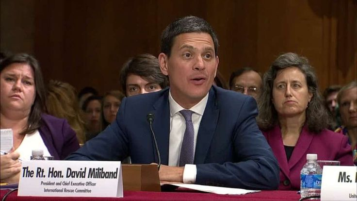 """Former UK Foreign Secretary David Miliband criticizes the U.S. for not accepting more Syrian refugees, saying it's """"not fitting"""" of its """"global leadership role"""". Vanessa Johnston reports."""