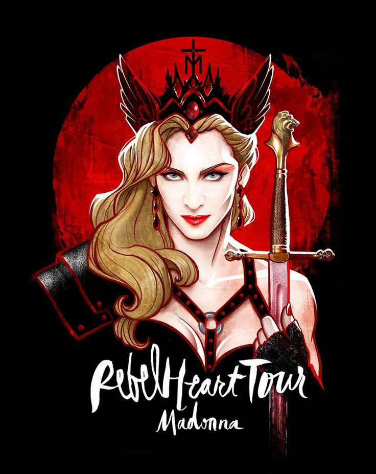 Madonna's REBEL HEART TOUR by David Kawena by davidkawena on DeviantArt