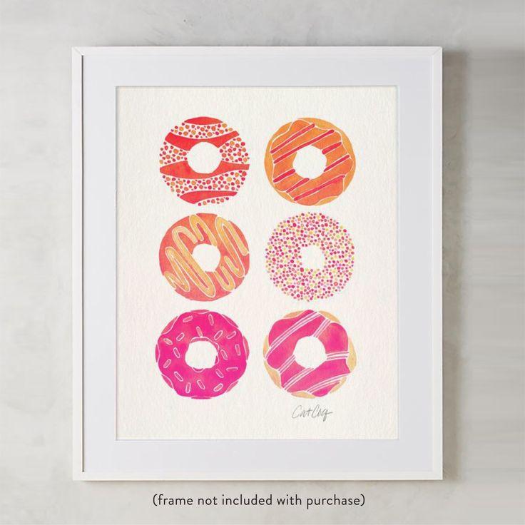 Half Dozen Donuts – Pink Ombré Palette • Art Print