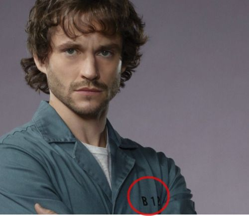 Hannibal the TV series referenced the movie with the number on the outfit