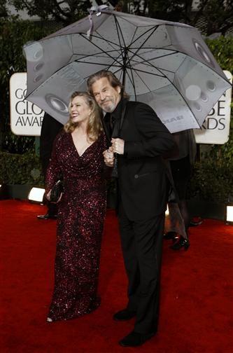 Jeff and Susan Bridges, Red Carpet Golden Globes 2010