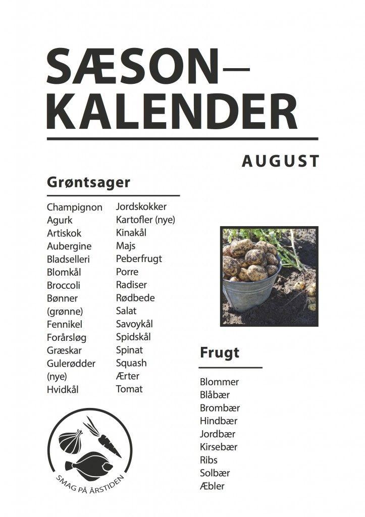 Sæsonkalender August | Smag På Årstiden