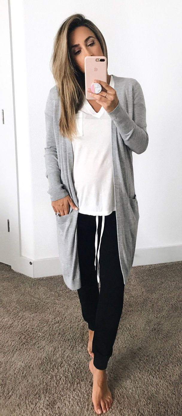 #summer #outfits  A Few Cozy Favorites, All Part Of The #nordstrom Sale  These Joggers Are A Total Dream ($51) & Loving This Long Cardi ($49)