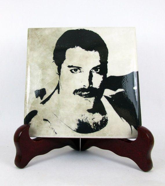 Freddie Mercury Queen Ceramic Tile  Handmade by TerryTiles2014