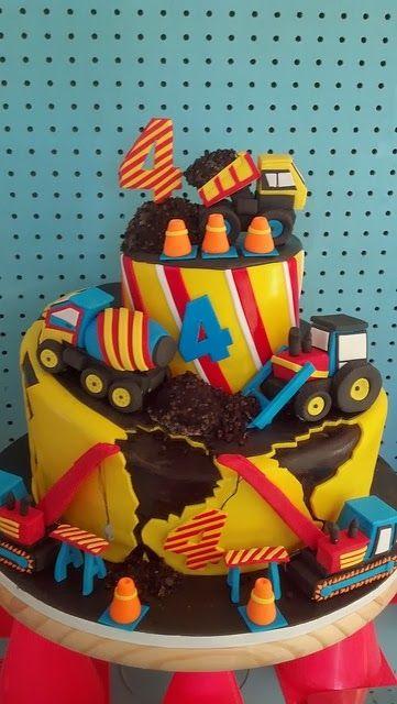 Construction cake theme