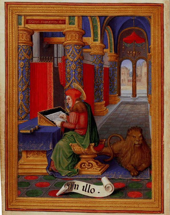 Heures Sforza Saint Marc, Gérard Horenbout BL Londres
