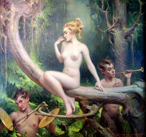 hustler magazine nymph and the satyr