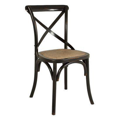 Vintage Stol Svartpatinerad