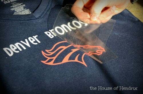 Be ready for the Football Playoffs and Superbowl! DIY tutorial to make a team shirt in 15 minutes