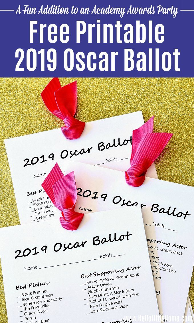 Transformative image with regard to oscar ballots printable