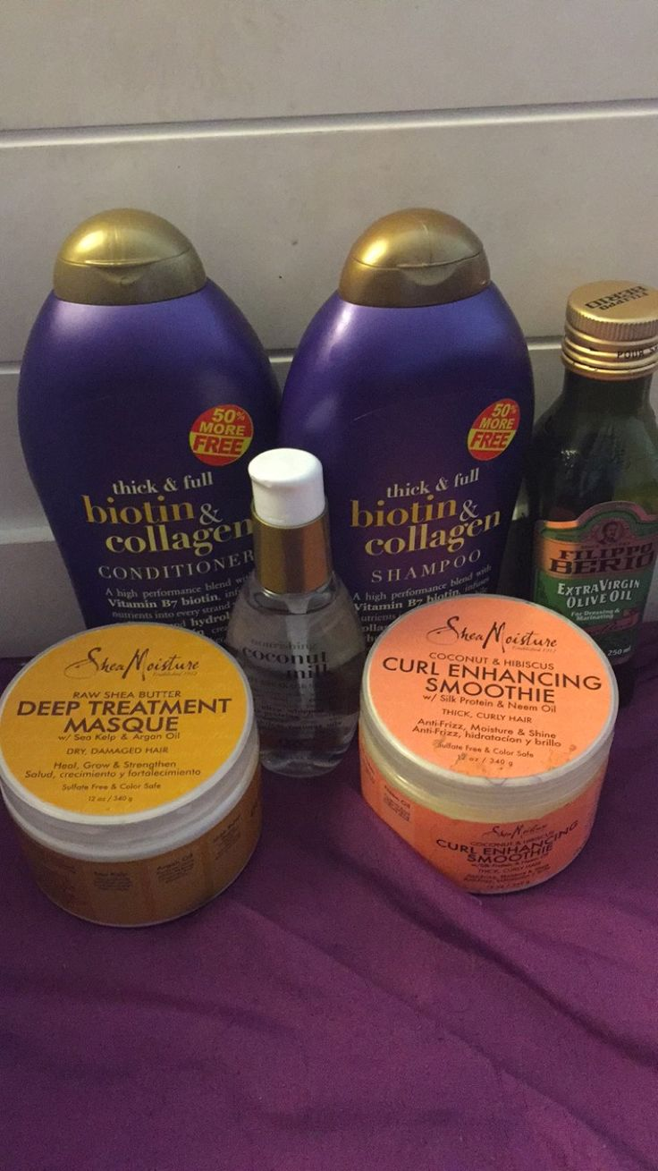 My new loves lol. I highly recommend natural black women to use sulfate free shampoo. It'll make your curls pop, your hair extra soft, bouncy, and it doesn't make your hair feel like it is being stripped. Organix and Shea moisturize is definitely going to be the only products that I buy for my hair now.