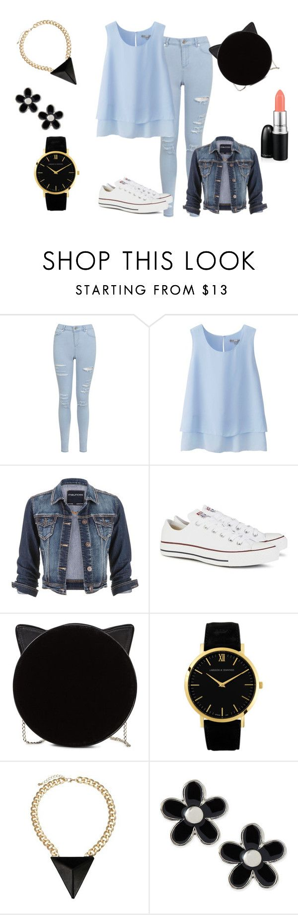 """""""wiosna 2015"""" by dagusia112 on Polyvore featuring moda, Miss Selfridge, Uniqlo, maurices, Converse, Charlotte Olympia, Larsson & Jennings, Marc by Marc Jacobs i MAC Cosmetics"""