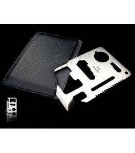 prep multitool creditcard formaat 11 functies, prepper multi tool kaart, survival outdoor tools