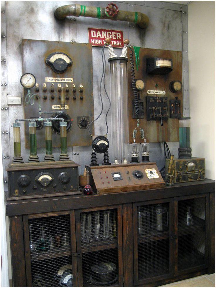 Frankenstein Laboratory Props - I'm sure some enterprising DIYer can make something like this.