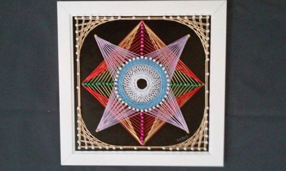 8 Corners Star  string art by SmARTcraftBoutique on Etsy