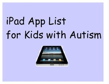 This is a list of iPad apps I use in my classroom with children with Autism in 3-5 grade.  They are organized by category and I have marked the class favorites!