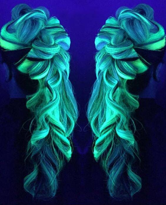 It's electric #hair  Source || Pinterest & manicpanicnyc #hair #hairstyles…