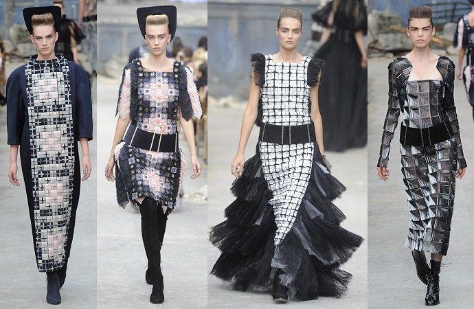 Черно-белые платья в коллекции Chanel Couture, осень-зима 2013/14