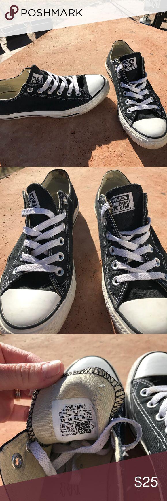 All star converse chucks Converse black chucks men's 5.5 women's 7.5 worn Converse Shoes