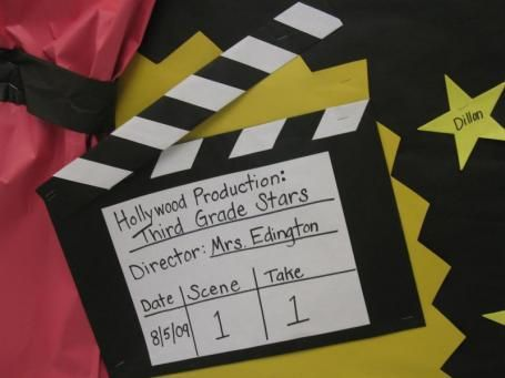 Lights, Camera, Action! | Red Carpet Themed Bulletin Board