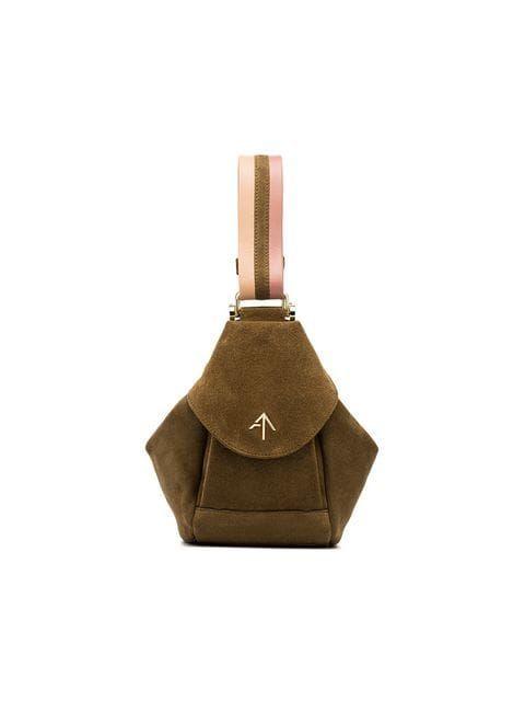 ac01f5b94ef Manu Atelier Green Micro Fenweh Micro Suede Shoulder Bag - Farfetch ...