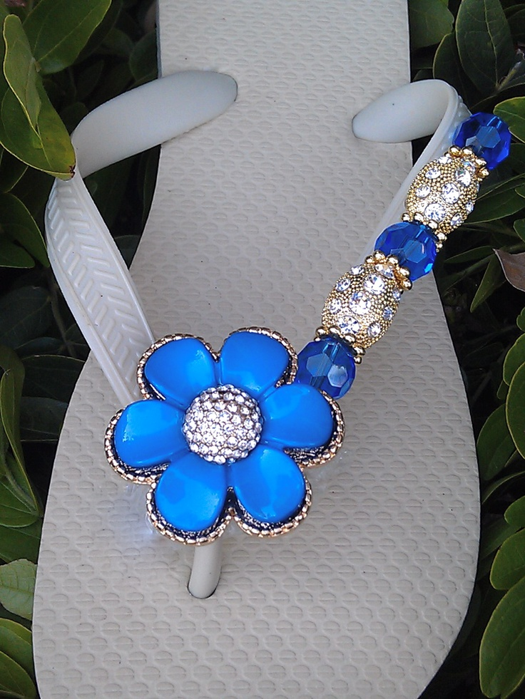 Daze of Blue  By Flipinista, Your BFF(BEst Flip Flop)  Registered Trademark.  These are fabulous!  Well done.