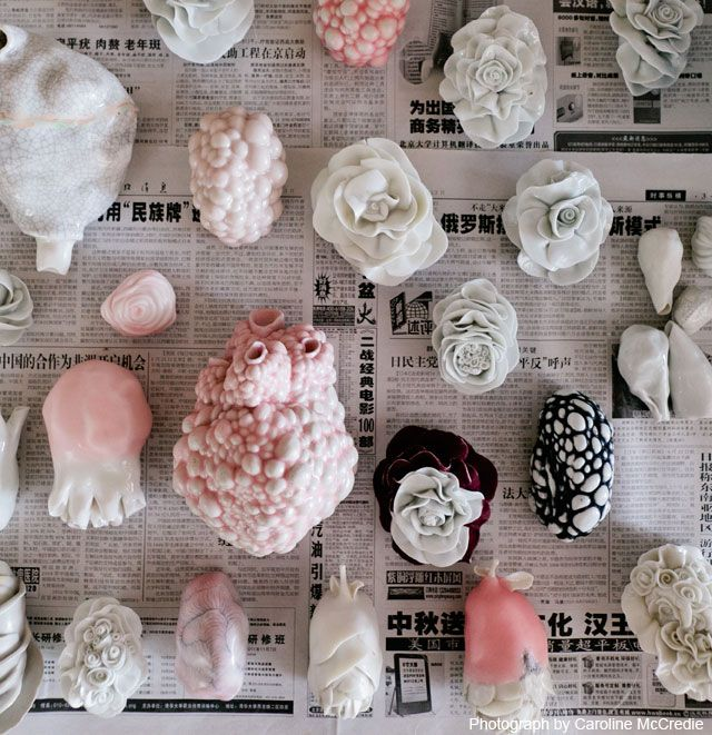 The Lovely Bones: Juz Kitson, a young ceramicist on Sydney's Central Coast, uses her fascination with organic forms to create objects of unsettling beauty. Stunning.