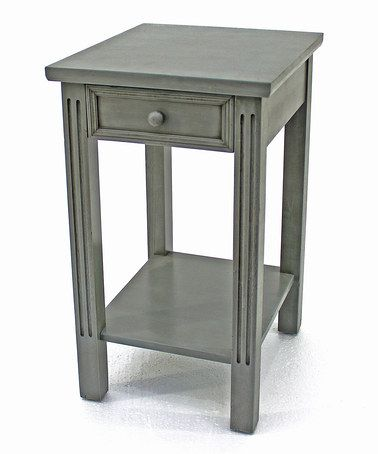 This Gray Wood Single-Drawer Side Table is perfect! #zulilyfinds