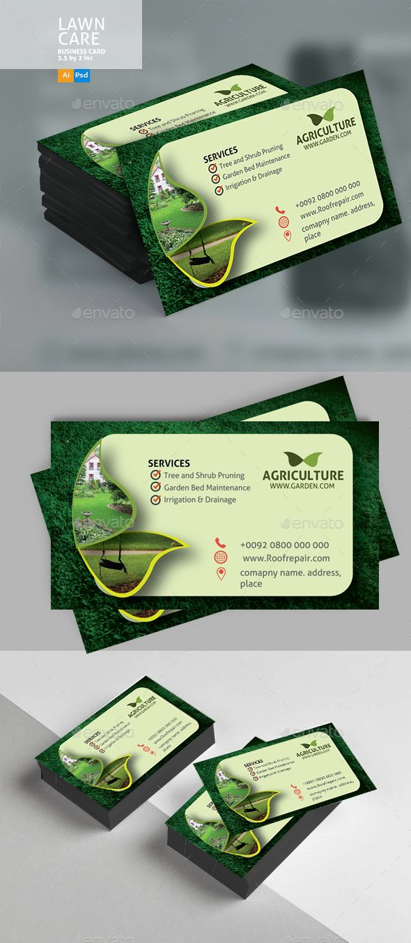 Lawn Care Business Card Lawn Care Business Cards Landscaping Business Cards Lawn Care Business