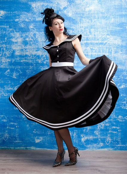 Alice Corsets   Дамские наряды   Платье в стиле 50-х годов - Морячок