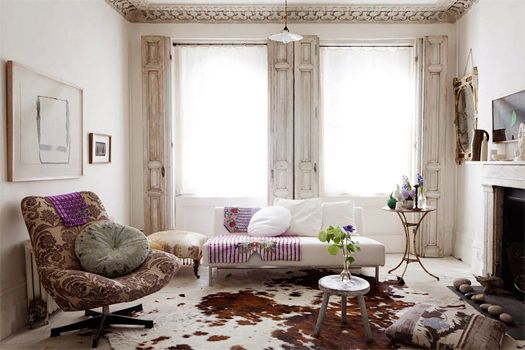 shabby chic house in London, UK