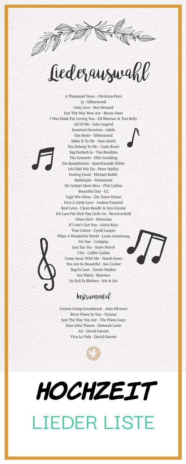 Good 14 Hochzeit Lieder Liste Lieder Hochzeit Hochzeitslieder Zitate Hochzeit