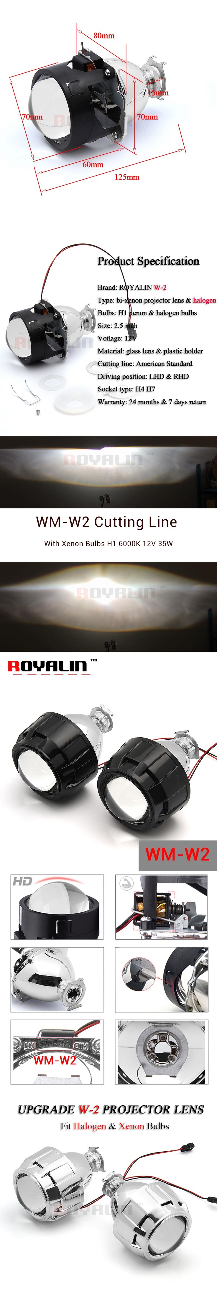 Royalin Wm 2 Styling Car Bi Xenon 5 Projector Lens Lhd Rhd