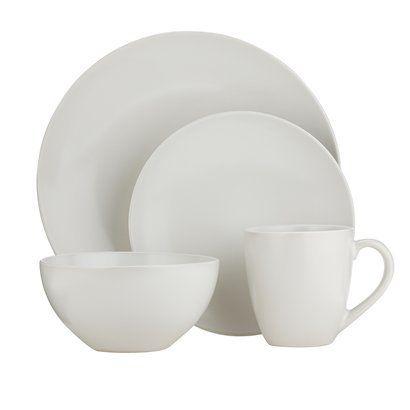 My next set of dishes. Plain white stoneware. 16 piece @ Target
