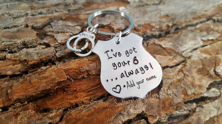Police Officer Gift - Key Chain - I've got your 6 - Police Wife - Girlfriend - Personalized - LEO - Sheriff - Badge - Blue Lives Matter by SouthernComfortZone on Etsy