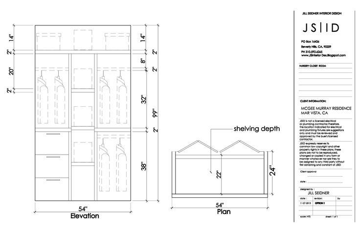 Elevation Plan Template : West la ca residence nursery closet plan elevation