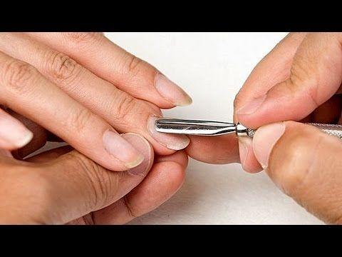 Коррекция гелевых ногтей (уроки дизайна ногтей) - YouTube