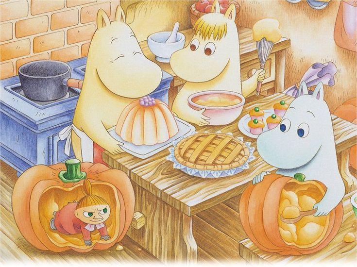 Halloween preparations in the Moominhouse.