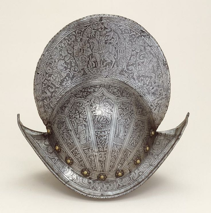 Northern Italian, Brescia (Probably)  Comb Morion, 1590/1600  Steel, brass, leather
