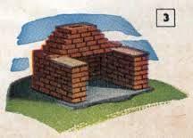 Resultado de imagen para parrilleras de ladrillos pequeñas