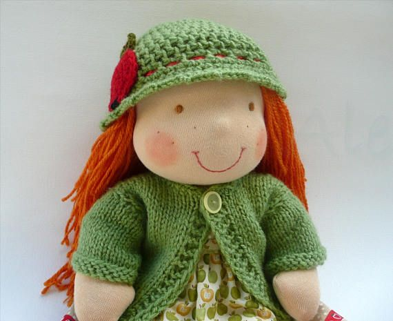 16 Waldorf doll Apple READY TO SHIP Waldorf Custom