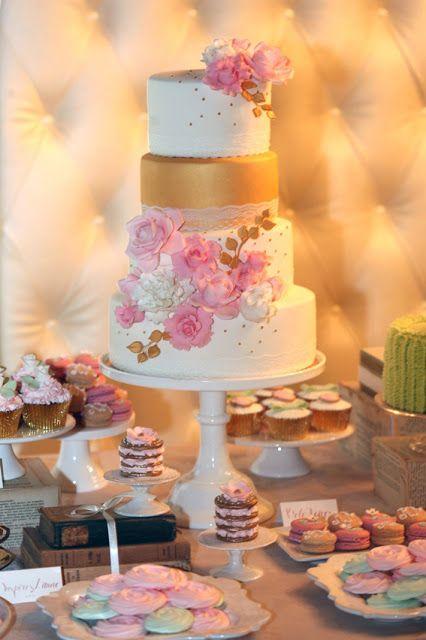 Cupcake: Casamento em rosa, dourado e menta                                                                                                                                                      Mais