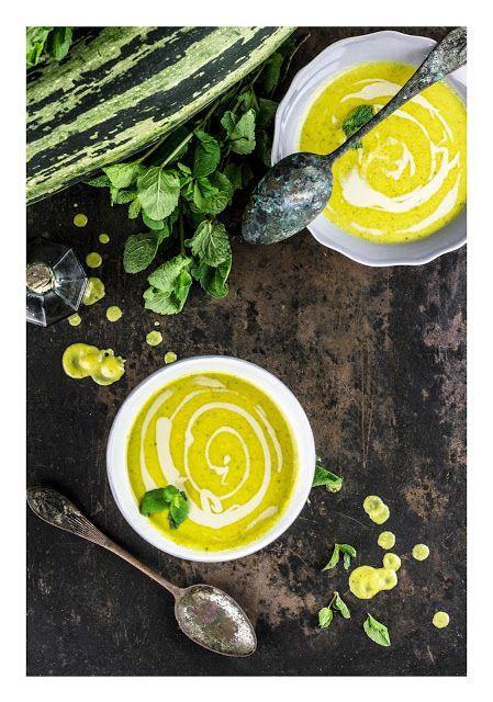 Zucchini & tahini soup