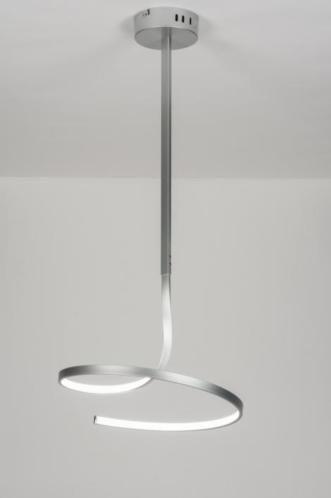 Minimalistische plafondlamp voorzien van LED. Opvallend is het simpele, strakke armatuur in gedraaide vorm. De buitenkant van het armatuur is gemaakt van aluminium. De binnenkant is van mat kunststof zodat de verlichting mooi gelijkmatig verdeeld wordt. Deze lamp wordt geleverd met een afstandsbediening. Hiermee is de lamp op 7 standen te dimmen en in- of uit te schakelen. Home interior lights / online shop : click on this link www.rietveldlicht.nl