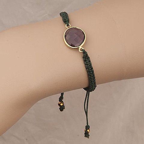 Handmade Green Bracelet Amethyst  At Anthoshop.com