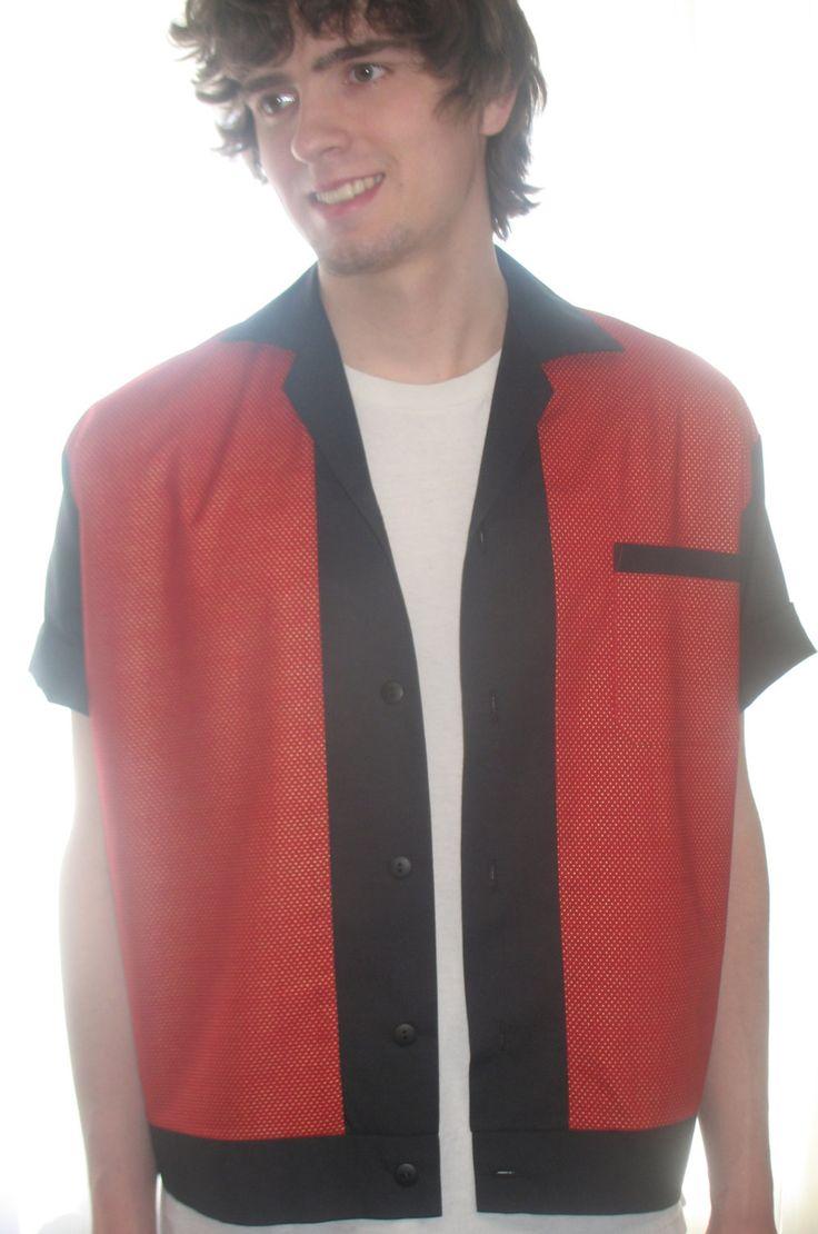 Men's Rockabilly Shirt Jac Red & Gold by LennyShirts on Etsy https://www.etsy.com/listing/181370922/mens-rockabilly-shirt-jac-red-gold